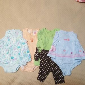 Four super cute Carter's NB girl outfits